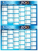 2010 blue planning calendar with copy space