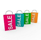 3d sale bag pink retail shopping discount buy