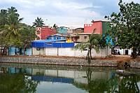 Slum in Collombo. Sri Lanka