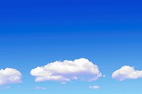 Beatiful blue sky with white clouds