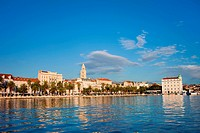 Split cityscape on the Adriatic Sea in Croatia