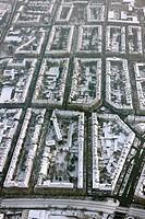 Aerial view, Landgrafenstrasse quarter, Dortmund, Ruhrgebiet region, North Rhine-Westphalia, Germany, Europe