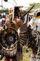A Gathering Of North America´S Native People, Meeting To Dance, Sing, Socialize And Honor American Indian Culture At Taos Pueblo, New Mexico