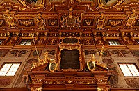 Golden Hall, 1643, in the town hall, Augsburg, Bavaria, Germany, Europe