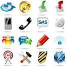 Communication and internet icons set.
