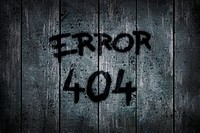 error 404 auf alter schmutziger bretterwand _ illustration