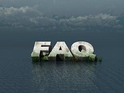 faq_monument auf dem meer _ 3d illustration