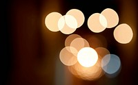 Abstract image showing the bokeh created by street lights in Valletta