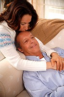Mature couple relaxing at home (thumbnail)