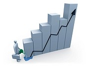Computer generated image _ Business Growth .