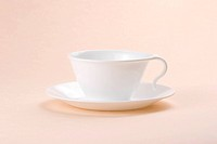 ceramic cup for coffee or tea with soft light background