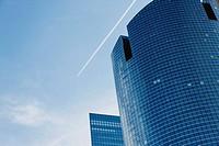 Modern skyscraper, low angle view