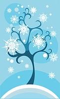 vector illustration of a winter card