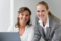 Female business associates, portrait