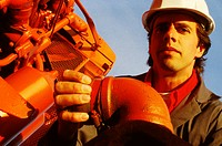 Oil/Gas Worker Wearing Hardhat