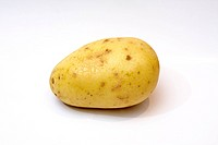 A potato isolated over a white background