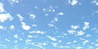 3D Rendered image of Scattered clouds in the sky