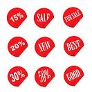 sale tag stickers vector illustration