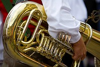 Tuba, musical instrument, province of Bolzano-Bozen, Italy, Europe