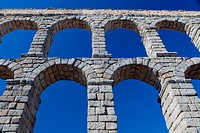 Wonderful aqueduct of Roman epoch, placed at Segovia´s city