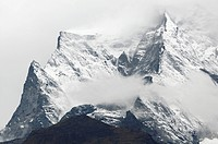 Kongde Ri mountain range in Nepal