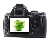 apple fruit in digital camera