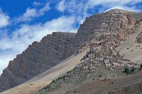 Buddhist Ki or Key Monastery or Gompa, Spiti Valley, Lahaul and Spiti district, Indian Himalayas, Himachal Pradesh, North India, India, Asia