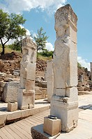 Heracles Gate, antique city of Ephesus, Efes, Turkey, Western Asia
