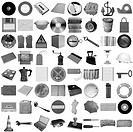 Many object isolated over a white background all pictures in the collage are mine