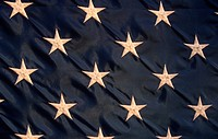 Close-up of stars on American flag