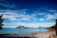 A small beach on the coast of northern Norway