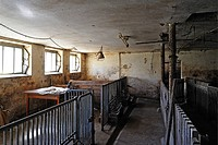 Empty pigsty of a small farmer who quit, Middle Franconia, Bavaria, Germany, Europe