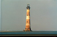 lighthouse located at Morris Island, South Carolina