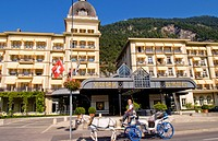 Grand Hotel Victoria Jungfrau In Interlaken, Switzerland.