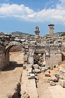 Roman Theatre, Xanthos, Lycian coast, Lycia, Mediterranean Sea, Turkey, Europe, Asia Minor