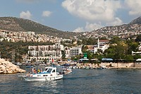 Kalkan harbour, marina, Lycian coast, Lykia, Mediterranean Sea, Turkey, Europe, Asia Minor