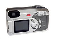 digital camera photo on the white background