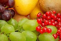 large heap of fresh fruit nature background