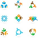 Collection of human icons and logos