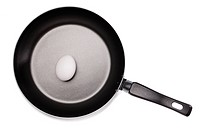Frying pan on a white background