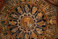 Baptistery of Neon mosaic, Ravenna, Italy