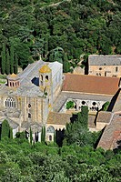 Fontfroide Abbey / Abbaye Sainte_Marie de Fontfroide, former Cistercian monastery in the Languedoc, Pyrenees, France