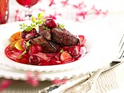 Doe noisette fillets with cherries