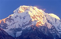 Nepal, Himalayan Mountains, Annapurna South Range, Hiunchuli Peak.