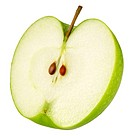 Half Green Apple on White - Non Exclusive