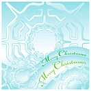 merry christmas greeting card with snow flakes ice cristal