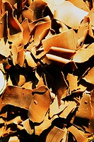 Close_up of chocolate shavings