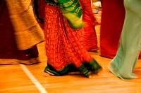Women dancing during the celebration of Navratri, the Hindu festival of Nine Nights