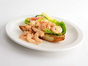 Prawn salad Crostini - cut out