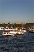 A ferry on the Bosphorus, Istanbul, Turkey.